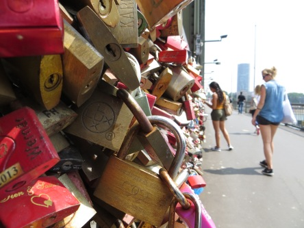 Lock and key: on the Hohenzollern Bridge, Cologne, Germany.
